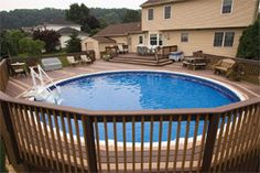 above ground pool with hot tub - Google Search