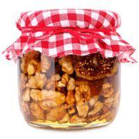 Recept : Ořechy v medu | ReceptyOnLine.cz - kuchařka, recepty a inspirace Kimchi, Dog Food Recipes, Cereal, Pesto, Homemade, Breakfast, Marmalade, Canning, Morning Coffee