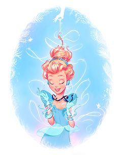 Cinderella - ...What a Gown This Will Be! by Whitney Pollett, via Behance