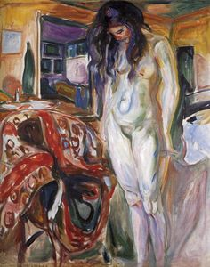 Edvard Munch  Model by the Wicker Chair.1921 http://artmodel.wordpress.com/category/muses/