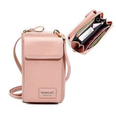 TAOMICMIC Women Solid Faux leather Clutch Bag 4 Card Slot Card Bag Phone Bag Leisure Crossbody Bag is designer, see other cute bags on NewChic Mobile. Leather Clutch Bags, Leather Bag, Clutch Purse, Cross Body, Minimalist Bag, Crossbody Tote, Best Crossbody Bags, Cute Bags, Online Bags