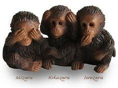 Mizaru, kikazaru e iwazaru See No Evil, Monkeys, Philosophy, Facebook, Photos, Inspiration, Animals, Ears, Scores