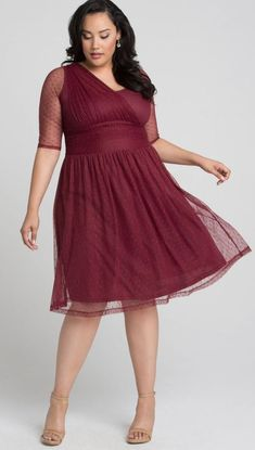 43 Plus Size Wedding Guest Dresses {with Sleeves} - Alexa Webb Plus Size Wedding Guest Dresses, Plus Size Party Dresses, Party Dresses For Women, Dresses For Teens, Plus Size Outfits, Women's Dresses, Church Dresses, Wrap Dresses, Girls Dresses