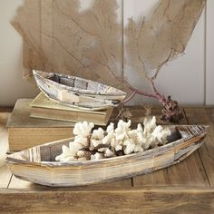 Found it at Birch Lane - Maritime Wooden Boats Beach Cottage Style, Beach House Decor, Coastal Style, Coastal Decor, Home Decor, Coastal Living, Beach Houses, Rustic Beach Decor, Coastal Interior
