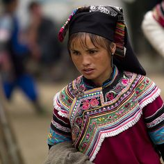 Yunnan Yi minority woman 彝族 - China