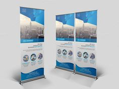 Roll Up Banner Template by Cristal Pioneer on @creativemarket