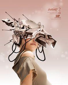Futuristic Girl, infektivision by *dopepope Digital Art / Photomanipulation