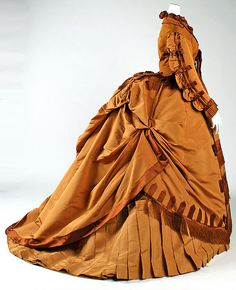 Dress (image 2) | Designer: Depret | French | 1867-71 | silk | Metropolitan Museum of Art | Accession Number: C.I.62.35.2a, b