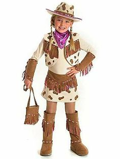 childs deluxe rhinestone cowgirl costume - Pageant Girl Halloween Costume