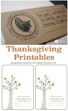 Printables For Thanksgiving For A Stress-Free Holiday. Print Off Place Cards, Menus, Invites And More. Thanksgiving Free Printables For Anyone Hosting For The Holidays. Snap The Photo For Your Thanksgiving Printables. The present Creative Life Thanksgiving Invitation, Thanksgiving Traditions, Thanksgiving Parties, Thanksgiving Crafts, Thanksgiving Decorations, Happy Thanksgiving, Thanksgiving Appetizers, Fall Decorations, Crafts For Teens To Make