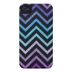 Denim Pastel Chevron Black iPhone 4 Case-Mate Case by OrganicSaturation #iphone #iphonecase #iphone4 #chevron #zigzag #pattern #iphonecover #fauxdenim #denim #pastel