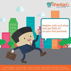 Hurry up! Register & shop with us and get amazing deals. A wide range brands now available at Gharkart. To know more about offers Visit: Gharkart.com Today! ‪#‎Gharkart‬ ‪#‎Onlineshopping‬ ‪#‎Groceries‬ ‪#‎Fruits‬ ‪#‎Vegetables‬ ‪#‎FreeDelivery‬ ‪#‎FastDelivery‬ ‪#‎HomeDelivery‬