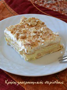 Greek Desserts, No Cook Desserts, Greek Recipes, Desert Recipes, Cookbook Recipes, Cake Recipes, Cooking Recipes, Food Cakes, Cupcake Cakes