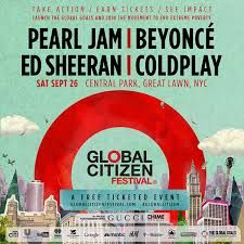 International superstars Beyoncé, Ed Sheeran, Coldplay and Pearl Jam will be headliners at the 2015 Global Citizen Festival, a free-ticketed event on the Great Lawn in New York City's Central Park on Saturday, September 26, 2015. The festival will be in support of the launch of the United Nations' new Global Goals initiative to fight inequality, protect our planet and end extreme poverty by 2030. https://www.globalcitizen.org/en/festival/2015/  #concert #tour #musicians #music #worldtour…