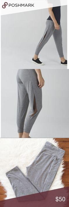 """Lululemon Superb Pants """"Lululemon""""      Superb Pants  Warm days and gentle Hatha classes call for pants with room to manoeuvre. This lightweight pair has an open-side design that shows a peek of leg when we move. Airflow incoming!  Size : 8 Waist : 30"""" inseam: 27.5""""      designed for: yoga, to-and-from     fabric(s): Vitasea     fit: loose     rise: medium  Great used condition.  Please see the pictures.  Thank you for looking my item.  Please check out my other items. lululemon athletica…"""