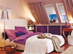 Vorher-Nachher: Schlafzimmer mit Dachschräge