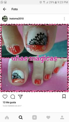 Cute Pedicures, Manicure And Pedicure, Class Ring, Nail Designs, Nail Art, Erika, Nails, Toenails, Home Craft Ideas