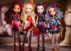 Depois das famosas Monster High, a mais quente novidade são as bonecas Ever After High, que são as filhas de personagens dos contos de fadas (tem a filha da Branca de Neve, da Rainha Má, ...). Vale a pena conhecer!