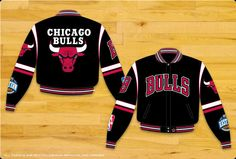JH Design Chicago Bulls Twill Jacket