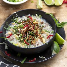 Comforting, healthy, tasty and festive describe this Cambodian Pork Rice Soup, a delicious, nourishing one-dish dinner you can make in under an hour.