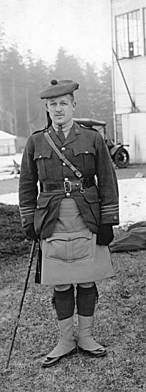 Major John Gordon Fleck, M.C. of the Seaforth Highlanders of Canada, in France ca. 1917