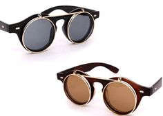 Retro Vintage Unisex 50s Steampunk Glasses Flip Up Round Cyber Sunglasses Goggles GX14 Online with $3.15/Piece on Astore's Store   DHgate.com