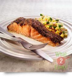 Cajun Spiced Fish with Corn Salad