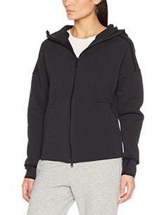 Shop adidas Women's Z. Running Wear, Running Women, Fitness Wear Women, Workout Wear, Black Hoodie, Hooded Jacket, Sweatshirt, Hoodies, Clothing