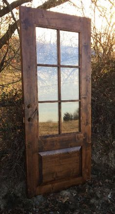farm-style, mid century modern, contemporary rustic door, // handmade, custom fixer upper style entry door for your home. – farmhouse front door with screen Entry Doors With Glass, Glass Panel Door, Glass Front Door, Front Door Decor, Door Entry, Wood Entry Doors, Front Entry, Front Porch, Rustic Contemporary