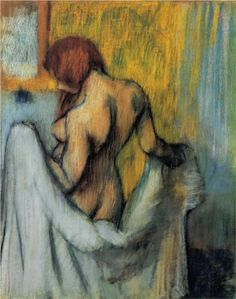 Edgar Degas, Woman with a towel (1898) - Impressionism