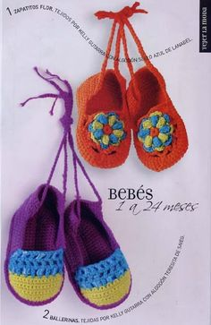 Are these cute or what? Crochet baby booties with diagrams.