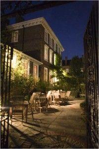 Burgh House at night