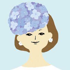 hommange to Lora Lamm #illustration #art #drawing #紫陽花 #hydrangea #hommange #loralamm #fashion