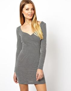 ASOS Textured Spot Bodycon