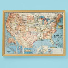 Land Of Nod Continental Colors World Map For The Kids Pinterest - Us wall map for kids