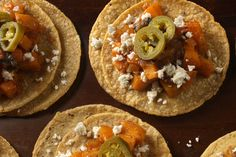 Small Spicy Squash Tacos #vegetarian, #vegan if you take out the cheese.