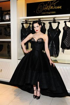 NEW YORK, NY - MARCH 20:  Dita Von Teese attends the Dita Von Teese Lingerie Collection Launch at Bloomingdale's 59th Street Store on March ...
