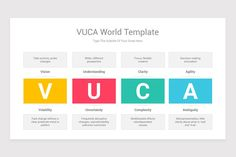 VUCA World PowerPoint PPT Template Diagrams is a professional Collection shapes design and pre-designed template that you can download and use in your PowerPoint. The template contains 16 slides you can easily change colors, themes, text, and shape sizes with formatting and design options available in PowerPoint. Shape Design, Keynote Template, Color Change, Eagle, Diagram, Shapes, Templates, World, Colors