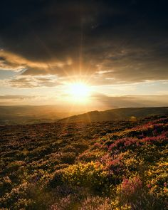 Sunset over the Quantocks by peterspencer49, via Flickr.