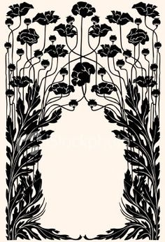 Flora / art nouveau garden border