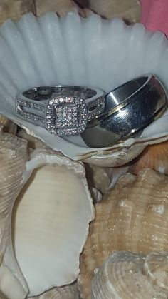 My ring and my hubby's ring ... My ring is bought at Sterns and hubby's ring is bought at American Swiss