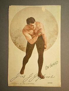"James Jeffries - 1907 Postcard - ""On Guard"" - Boxing Card"