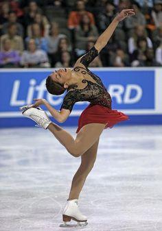 Samantha Cesario, Ladies free at Skate America 2014, Red Figure Skating / Ice Skating dress inspiration for Sk8 Gr8 Designs