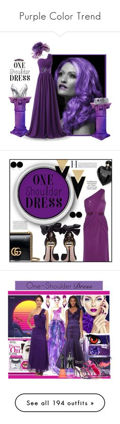 """Purple Color Trend"" by yours-styling-best-friend ❤ liked on Polyvore featuring purple, Dolce&Gabbana, Yves Saint Laurent, Gucci, Miu Miu, Lipsy, Christian Louboutin, Marco de Vincenzo, Manolo Blahnik and Michael Antonio"