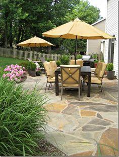 backyard - flagstone patio