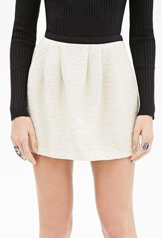 Pleated Textured Skirt | FOREVER21 - 2000057141