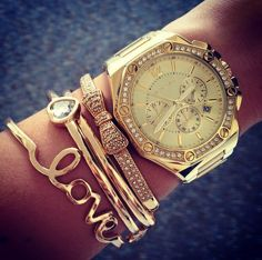Love the gold