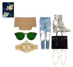 """""""Untitled #222"""" by ayalah-ashanti ❤ liked on Polyvore featuring Blue Vanilla, Topshop, Strategia, Yves Saint Laurent, Rolex and River Island"""