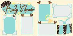 Baby Shower Blue Scrapbook PageKit $8.00