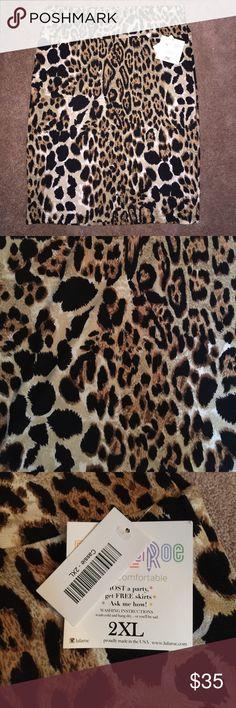 BNWT LuLaRoe Cassie Skirt 2XL BNWT LuLaRoe Cassie Skirt in Cheetah print size 2XL LuLaRoe Skirts Pencil